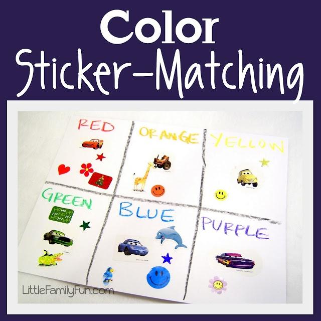 Fun and easy color activity for preschoolers!