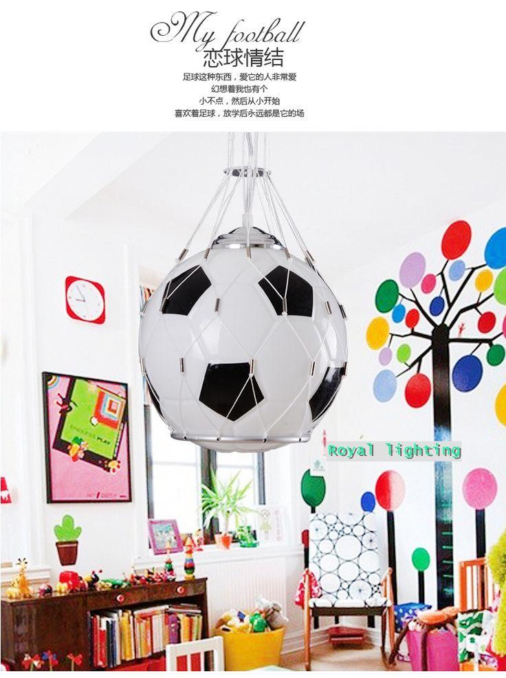Стекло футбол подвесной светильник лус детская комната Футбольный мяч стекла свет детская комната белый & черный подвесной светильник E27 бар светкупить в магазине Royal lighting international CompanyнаAliExpress