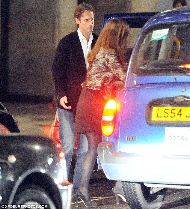 10/28/12 -Pippa Middleton out on a 'date' with the banker brother of Made In Chelsea star Spencer Matthews