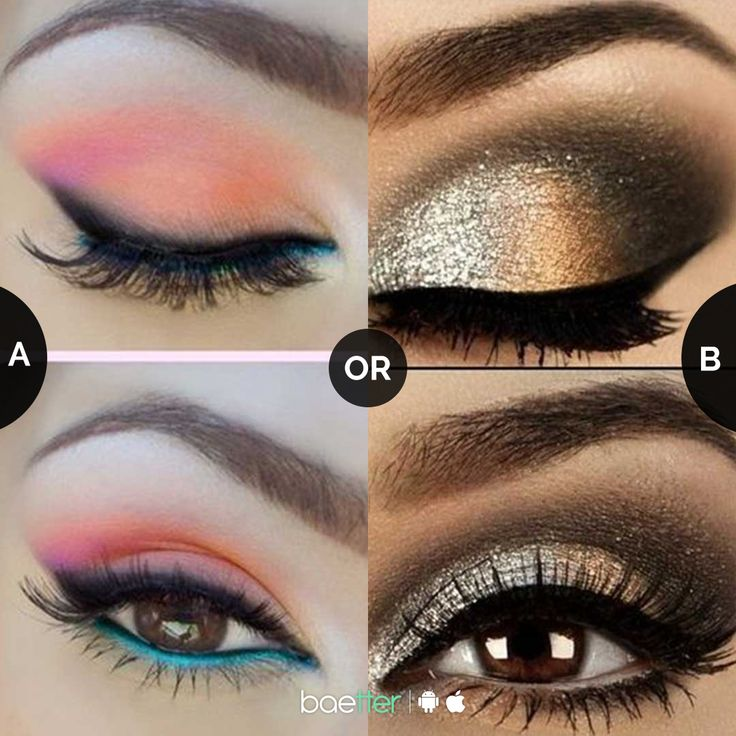 Which eye makeup will enhance your #ootd?