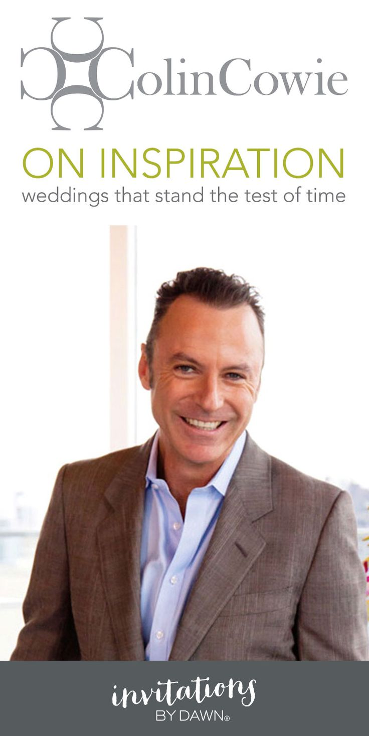 Colin cowie on inspiration weddings that stand the test of time