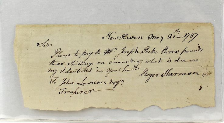 Lot: 1787 Roger Sherman Declaration Of Independence Signer, Lot Number: 0007, Starting Bid: $100, Auctioneer: American Antique Auctions, Auction: Autographs- Artists to Presidents! Signed, Date: March 5th, 2017 PST
