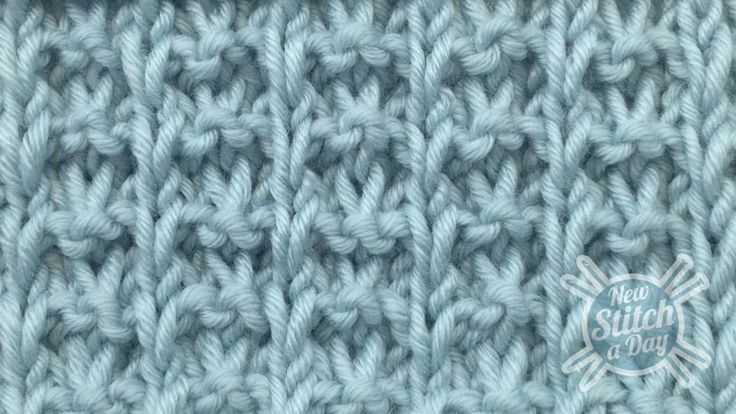 Example of the Whelk Stitch Right Side