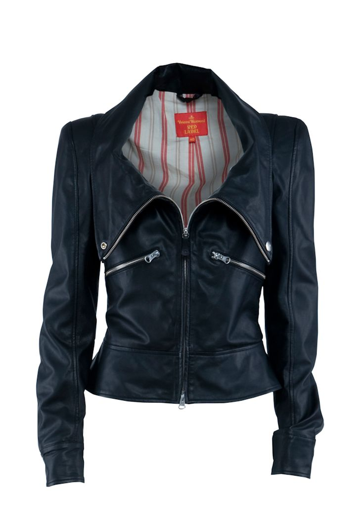 little black leather jacket by Vivienne Westwood