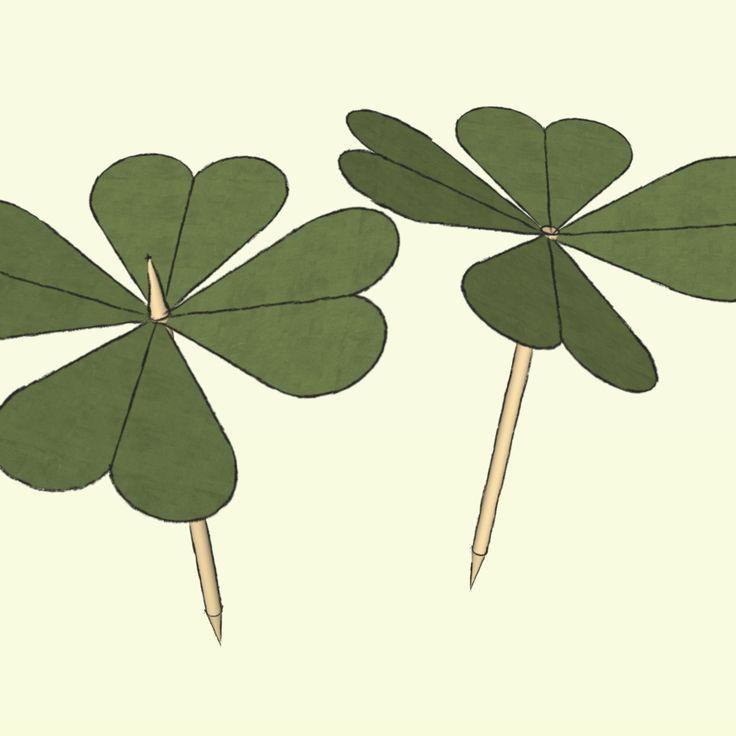 Eines der beliebesten Glückssymbole zu Silvester ist das vierblättrige Kleeblatt - der Glücksklee.
