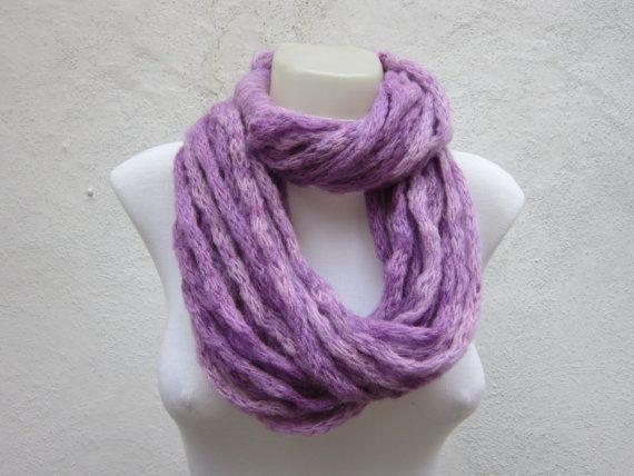 Knit tube Infinity scarfwomen accessorieschunky loop by scarfnurlu