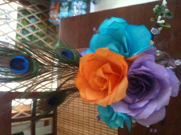 Teal And Purple Wedding Ideas: Purple Teal Orange Wedding