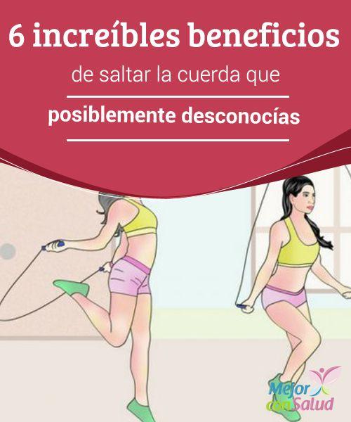 6 increíbles beneficios de saltar la cuerda que posiblemente desconocías   Saltar la cuerda es un ejercicio cardiovascular sencillo, económico y muy completo que trae excelentes beneficios a nuestro organismo.