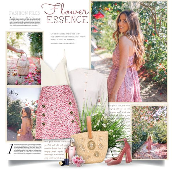 A fashion look from May 2017 by thewondersoffashion featuring Ted Baker, Anine Bing, Dolce&Gabbana, Aquazzura, Ermanno Scervino, Estée Lauder e Avon