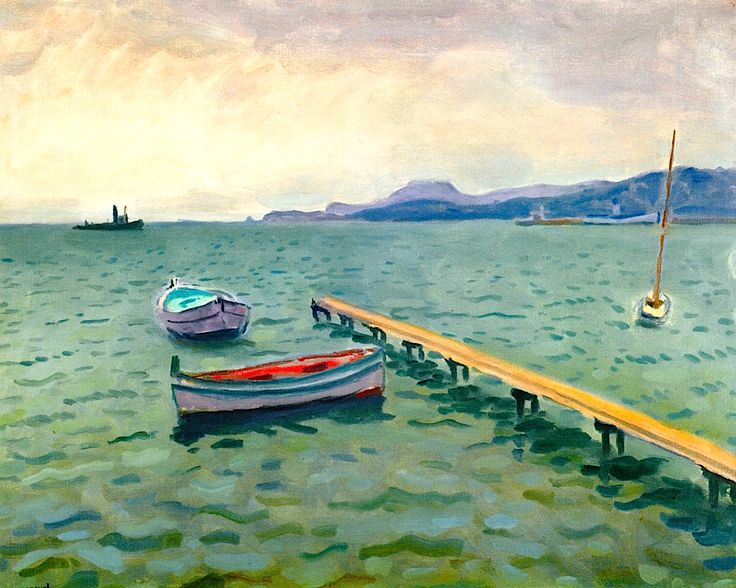 The Arrival of the Mail Boat, Porquerolles / Albert Marquet - 1938
