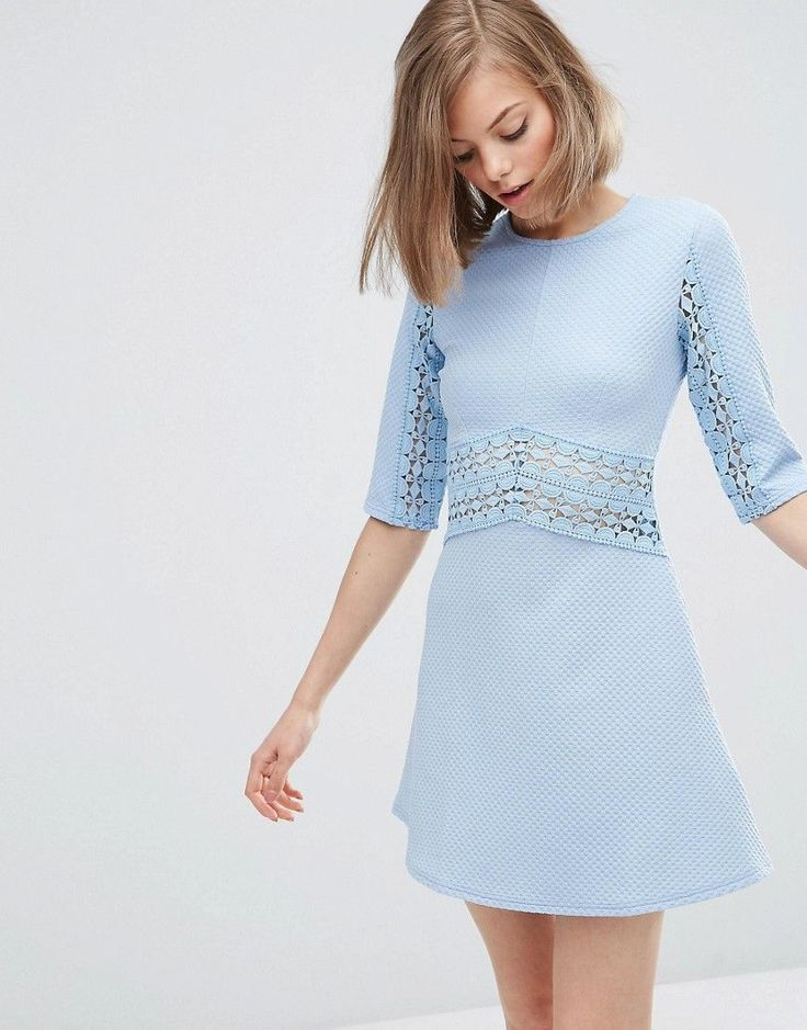 Asos tfnc skater dress in lace