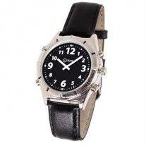 Montre parlante classique http://www.seniorboutique.fr/reveils-pendules-horloges-et-montres/1406-montre-parlante-classique-3661474118379.html