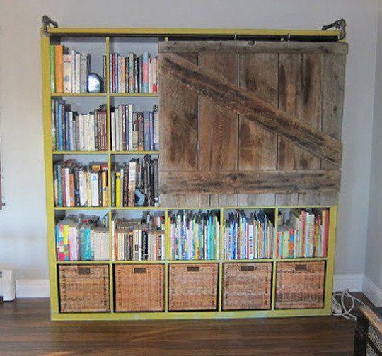 Interior diy ikea lack table 15 pinterest for Ikea sliding barn doors
