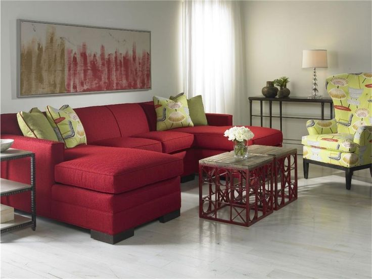 Living Room Red Color L Shape Cheap Furniture Livingroom Square Wooden Coffee Tables Table