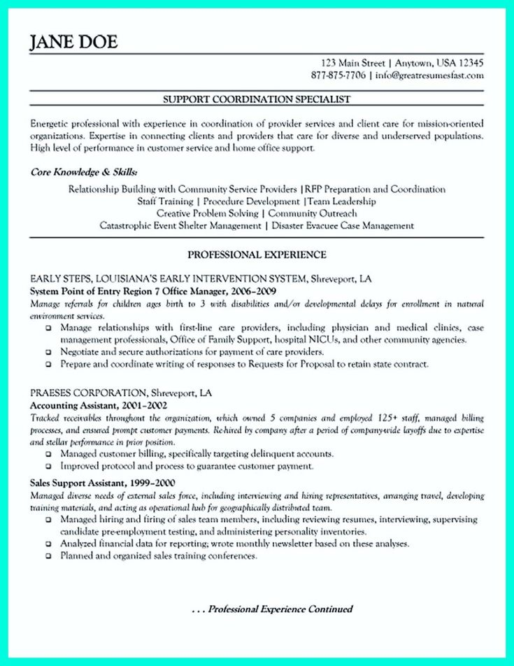 nice Inspiring Case Manager Resume to Be Successful in Gaining New Job,