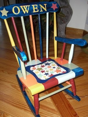 Hand Painted Rocking Chair For Child