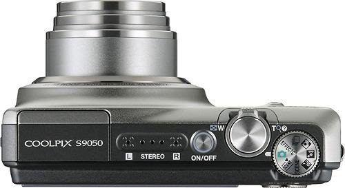 Cámara semiprofesional Nikon S9050 (superior)