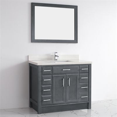 Spa Bathe Calumet Single Sink Vanity With Solid Surface Top At Lowe S Canada Find Our Selection Of Bathroom Vanities The Lowest Price Guaranteed