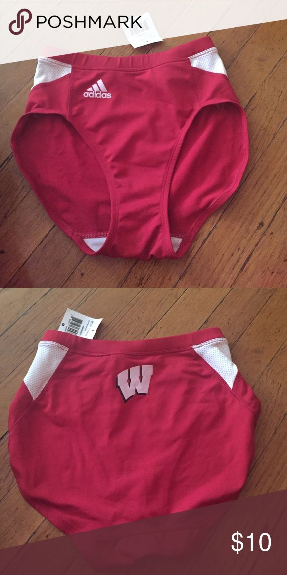 Red spandex bundies - athletic underwear Adidas. Wisconsin. Can be used for high waisted swim bottoms. Girdle like underwear. Use for your next warrior race competition ☺️ Adidas Shorts