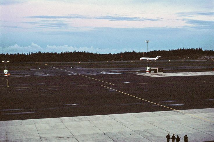 The first plane to land at Göteborg Landvetter Airport, October the 3:rd, 1977.
