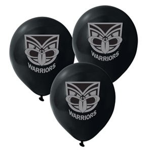 $15.95 NRL Warriors Balloons Pk 50 | Party Supplies, Decorations, Papers, Tableware | LOMBARD - The Paper People