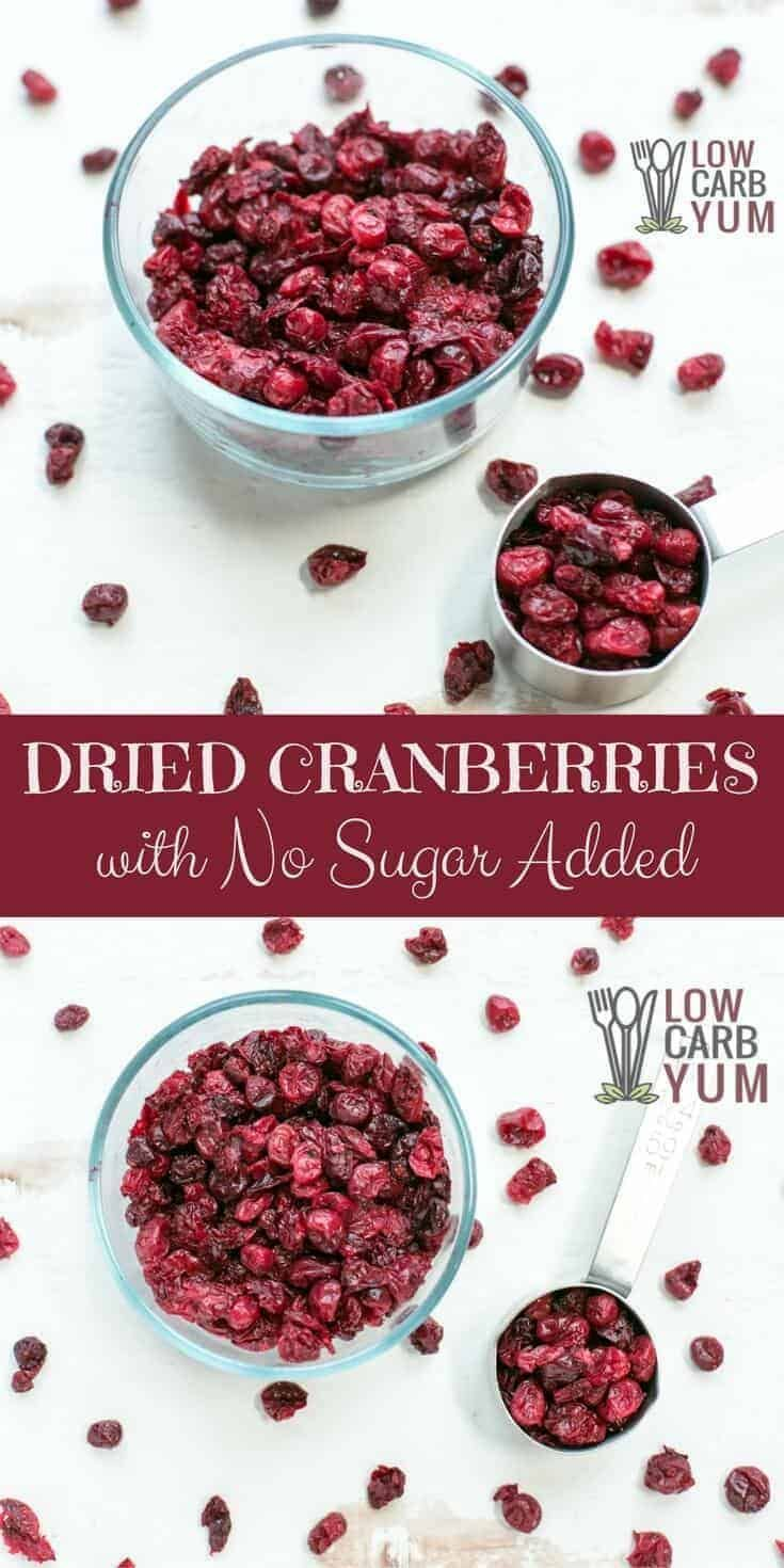 Sugar Free Dried Cranberries Can Be Difficult To Find But It S Easy To Make Them At Hom Cranberry Recipes Low Carb Breakfast Recipes Low Carb Recipes Dessert