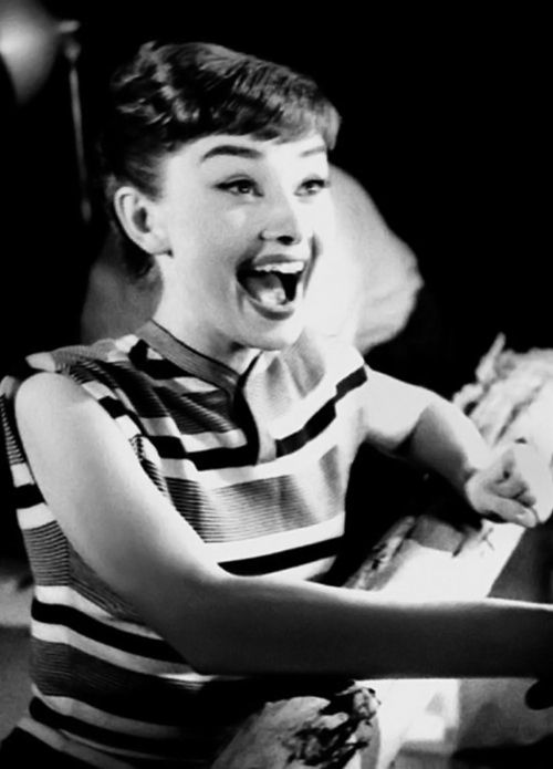 Audrey Hepburn photographed by Bob Willoughby at Paramount Studios for her first publicity photo shoot, 1953.