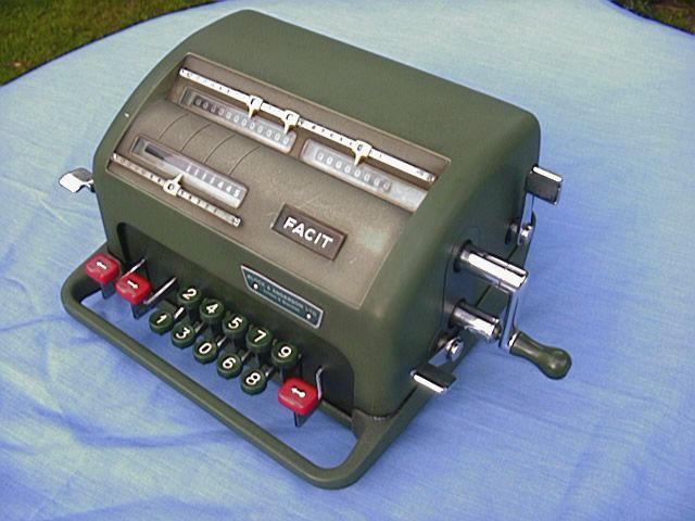 1955 Facit NTK mechanical calculator