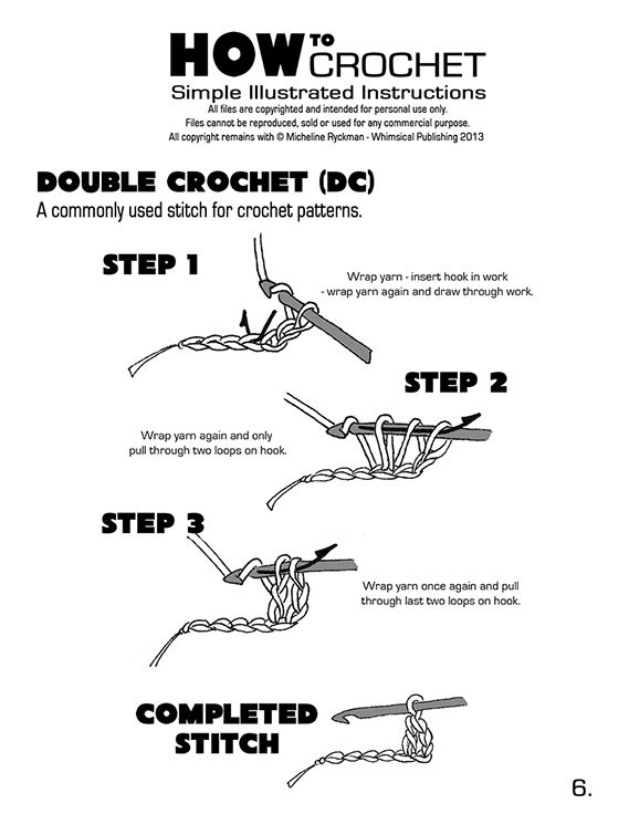 How To Crochet Double Crochet Stitch