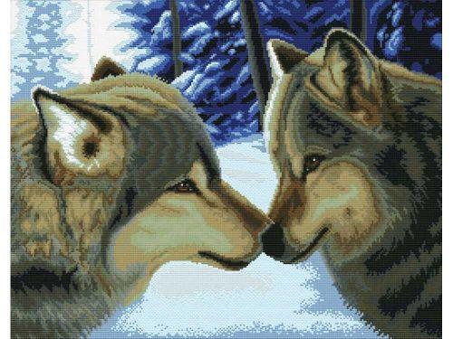 Набор для вышивания «Два волка»