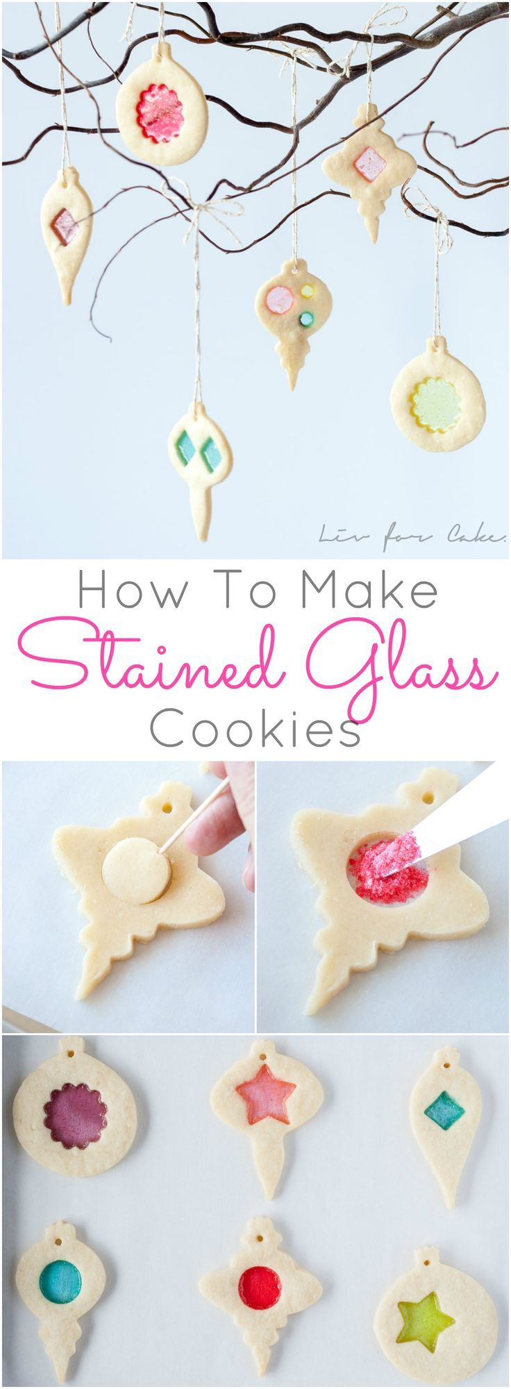 Cookie and candy all in one! Learn how to make stunning stained glass cookies with this detailed tutorial. Perfect for holiday cookie exchanges or for hanging on your tree!
