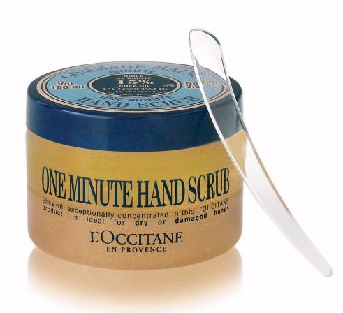 11 tools for the perfect at home manicure: One Minute Hand Scrub, $25, L'Occitane - Chatelaine
