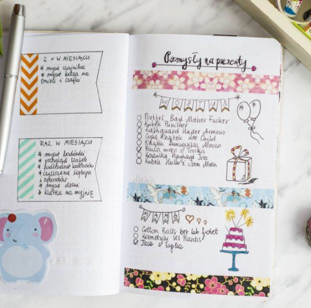 Bullet Journaling is all about writing down your to-do's and personal notes in concise sentences and bullet points (using special special symbols to keep track of your progress).