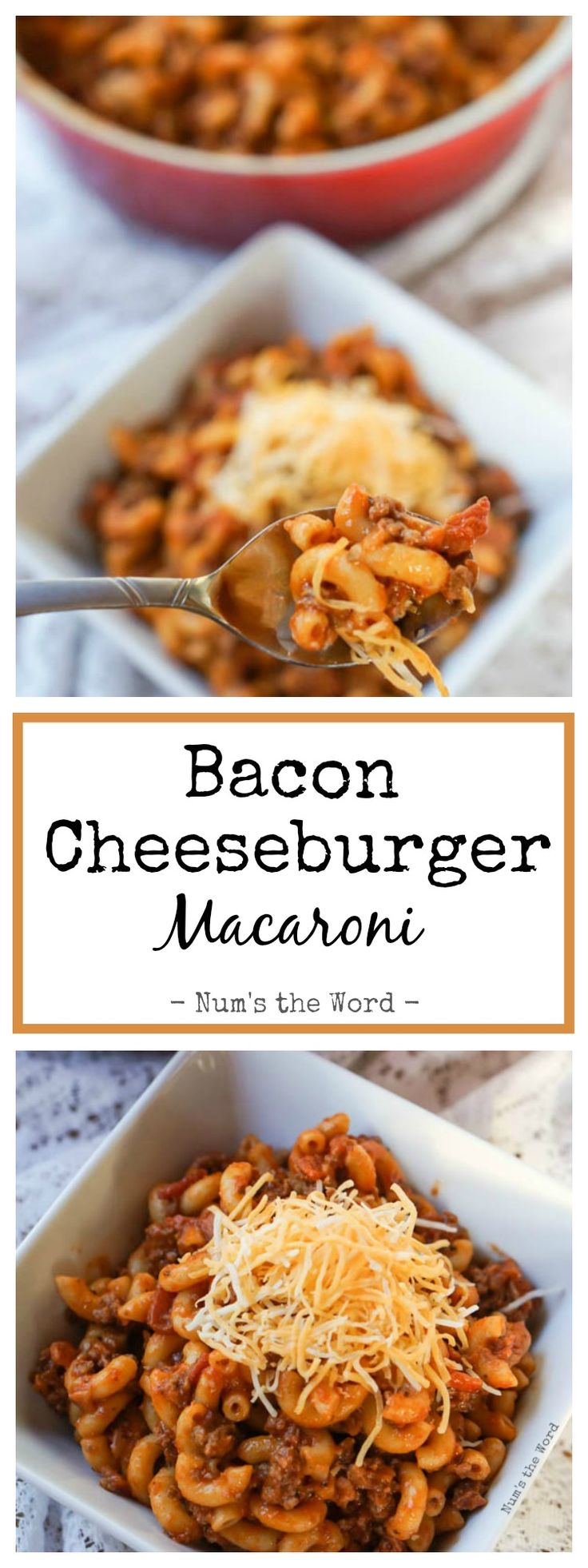 Bacon Cheeseburger Macaroni is a 30 minute meal that is perfect for busy weeknight and picky kids.  My kids asked for seconds and more the next day!