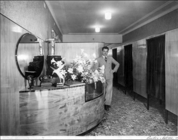 The original salon renovated in the 1940's - Uncle Louis Cordony.