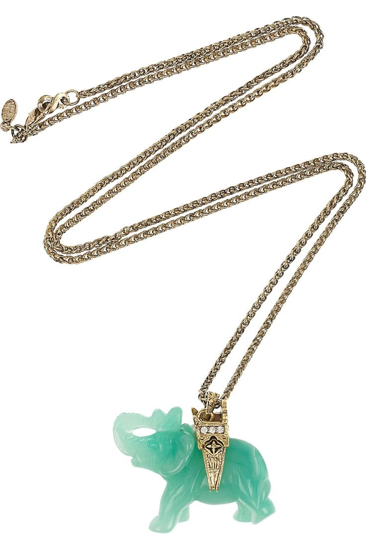 oh how i wish you were mine...: Lane 22 Karate, Gold Chains, Kenneth Jay Lane, Elephant Necklace, 22 Karate Gold Plat, Jade Jewelry, Jade Elephants, Gold Plat Elephants, Elephants Necklaces