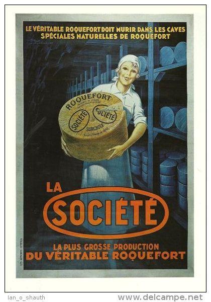 fromage - roquefort Société - Le véritable roquefort doit murir dans les caves spéciales naturelles de Roquefort - France - 1932 -