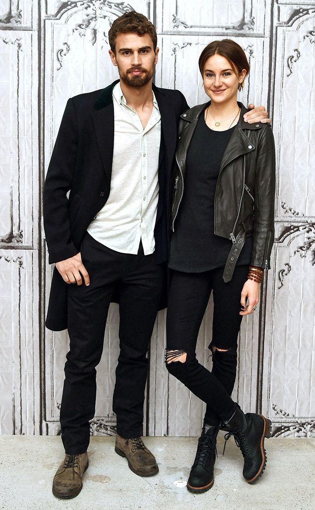 Shailene Woodley and Theo James make quite the badass pair in NYC--love these looks!