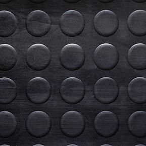 Noppa Gummi gulv sort i 120 cm bredde