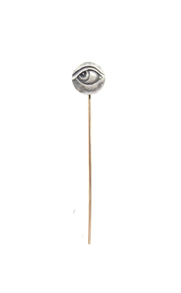 New 'EYE 2' pin from Sirkel Jewellery in sterling silver and red gold.