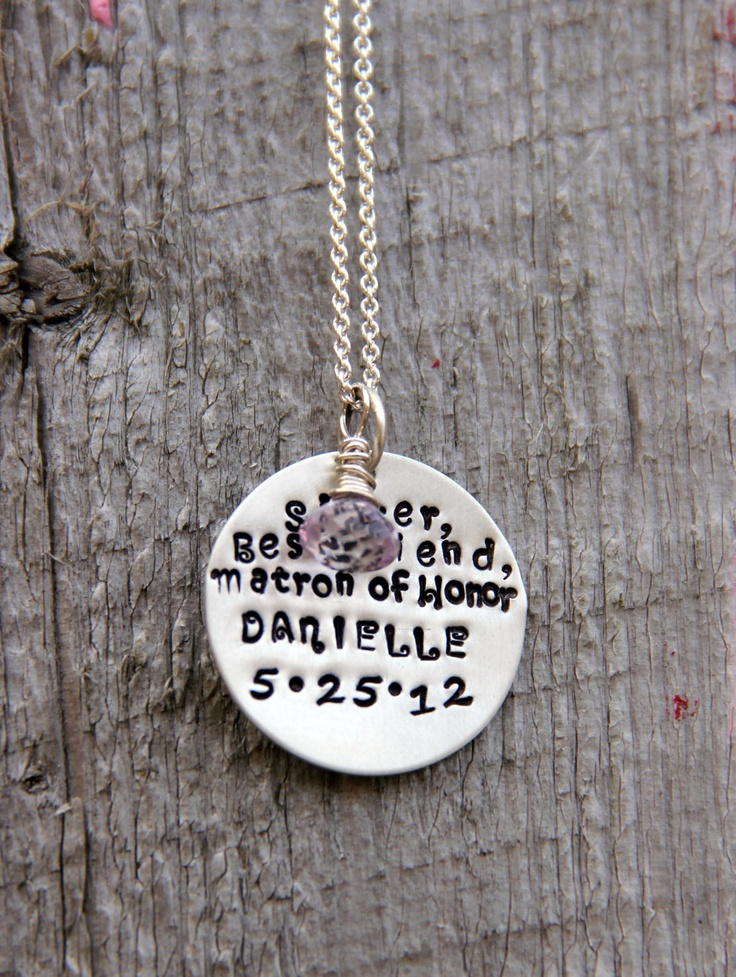Maid of honor gift bridesmaid gift rehearsal dinner