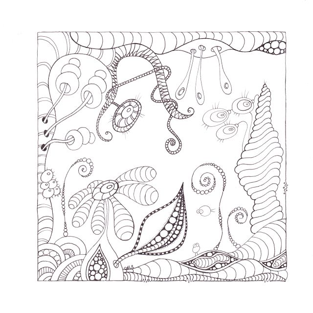 S A N D F L O W E R: if you want to try, colouring page