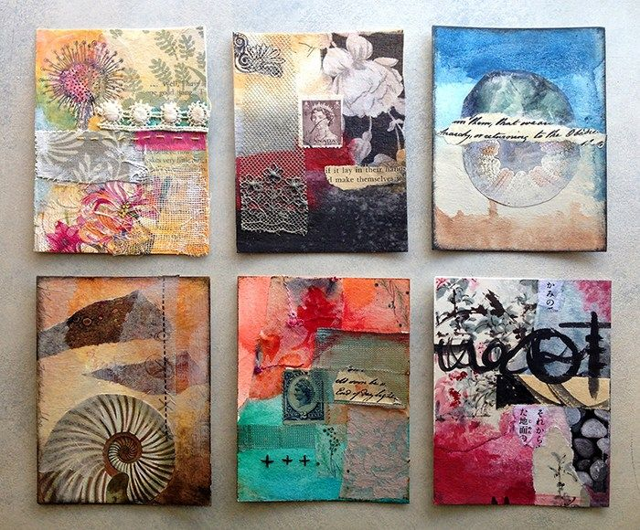 By Artist Lisa Agaran Miniature Mixed Media Workshop Mixed