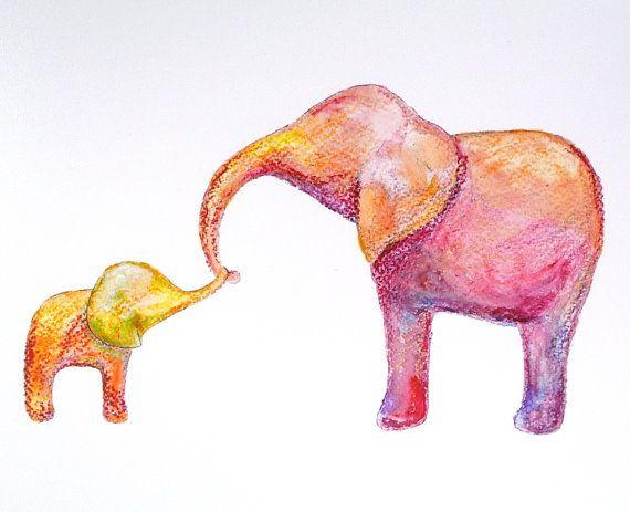Scuola materna arte stampa elefante illustrazione di mikaart