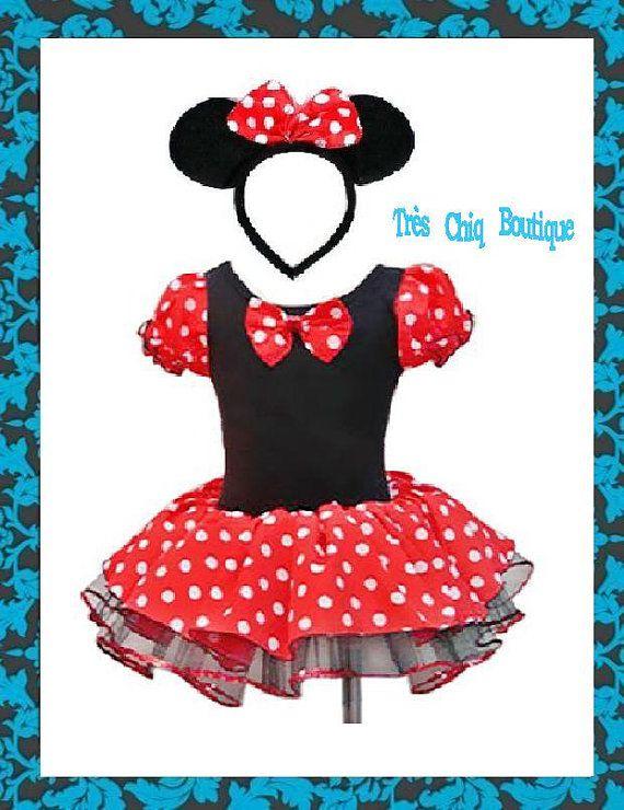 minnie mouse costume girl baby newborn toddler red disney tutu dress halloween costume. Black Bedroom Furniture Sets. Home Design Ideas