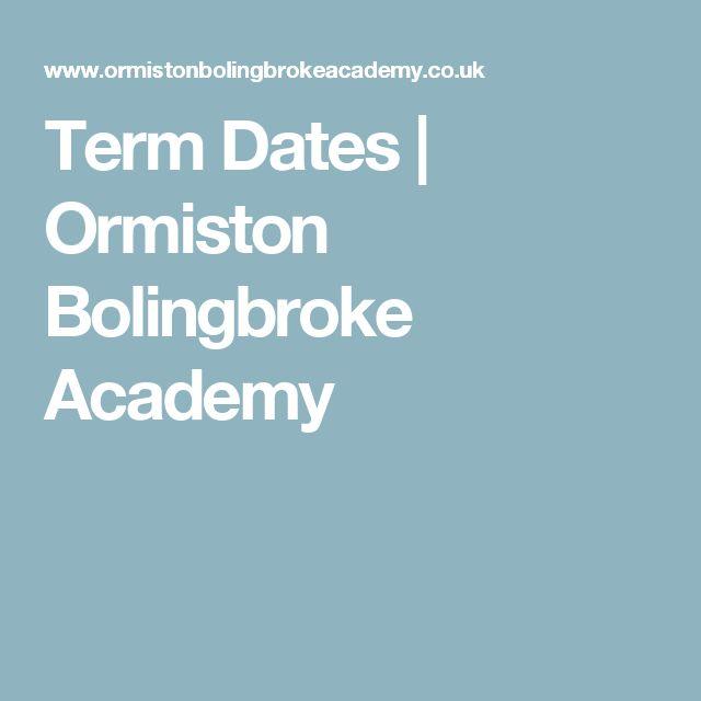 Term Dates | Ormiston Bolingbroke Academy