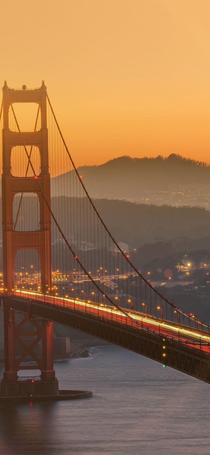 ne11-bridge-orange-sunset-river-city-lights-flare via iPhoneXpapers.com - Wallpa... ne11-bridge-orange-sunset-river-city-lights-flare via <a href=