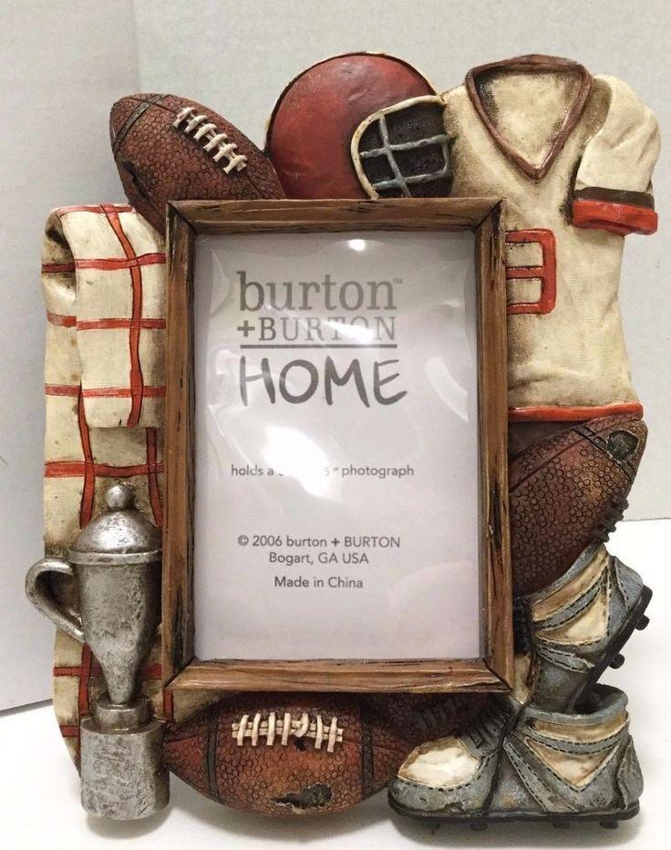 Football Desktop Picture Frame Burton Burton Freestanding 5x8 Sports Decor  #BurtonBurtonHome #Americana