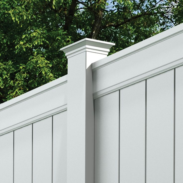Shop Gatehouse Emblem White Flat-Top Privacy Vinyl Fence Panel (Common: 72-in x 8-ft; Actual: 72-in x 7 Feet) at Lowes.com