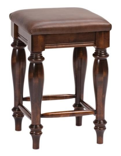Harvest Backless Amish Bar Stool Save space with elegant backless bar stools that tuck under the counter when not in use.